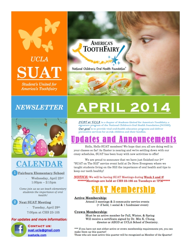 SUAT April 14' Newsletter
